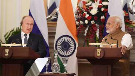 مؤتمر صحفي للرئيس الروسي فلاديمير بوتين ورئيس وزراء الهند ناريندرا مودي؛ 05/10/2018