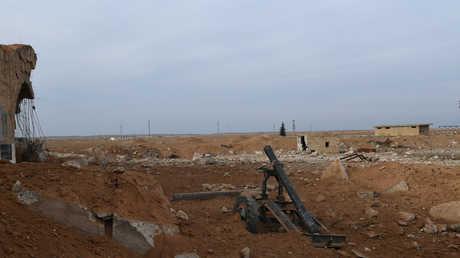 أسلحة ومعدات عسكرية في محافظة إدلب