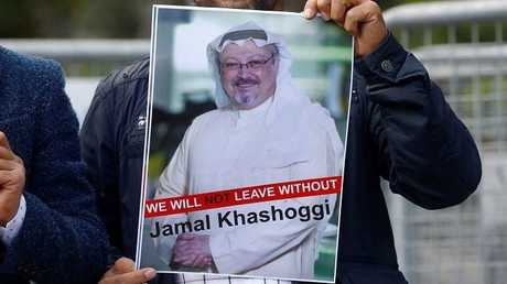 ملصق لصورة الكاتب السعودي جمال خاشقجي