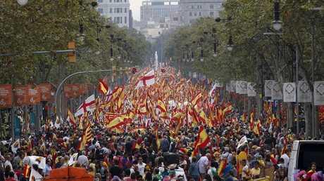 تظاهرات تدعو للوحدة في كتالونيا