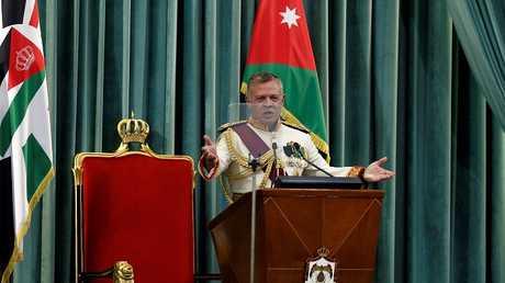 الملك الأردني عبد الله الثاني، في افتتاح الدورة التشريعية الـ3 للبرلمان، عمان، الأردن 14 أكتوبر 2018
