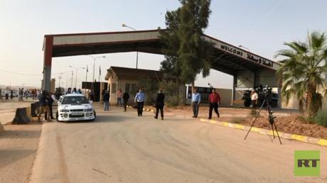 """معبر """"نصيب"""" على الحدود السورية الأردنية، 15 أكتوبر 2018"""