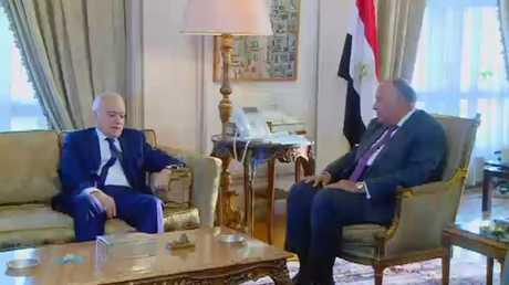 مباحثات سلامة في القاهرة