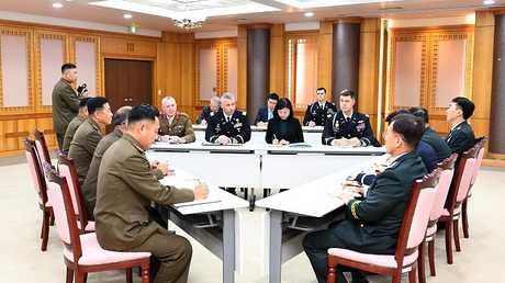 اجتماع وفود من كوريا الجنوبية وكوريا الشمالية، 16 أكتوبر 2018
