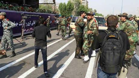 صورة من موقع الهجوم على العرض العسكري في الأهواز