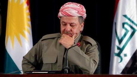 رئيس الحزب الديمقراطي الكردستاني مسعود بارزاني