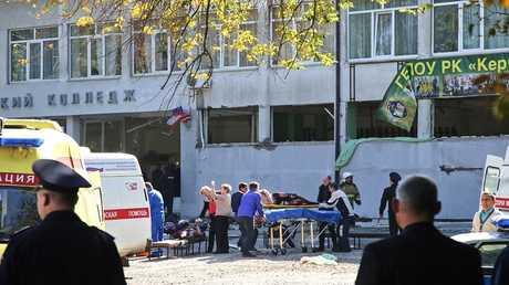 إجلاء ضحايا الحادث الإجرامي في القرم الروسية