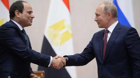 الرئيسان الروسي والمصري