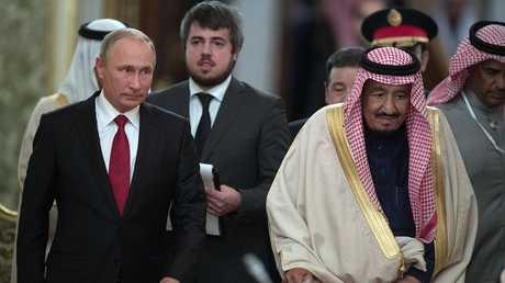 فلاديمير بوتين والملك سلمان بن عبد العزيز آل سعود - صورة أرشيفية