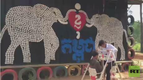 مدرسة كمبودية تواجه الفقر والجهل والتلوث