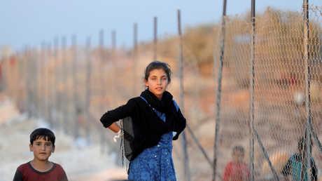 لاجئون سوريون، محافظة إدلب، سوريا