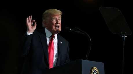 الرئيس الأمريكي دونالد ترامب، أريزونا، الولايات المتحدة، 19 أكتوبر 2018