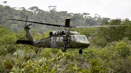 مروحية كولومبية من طراز Black Hawk