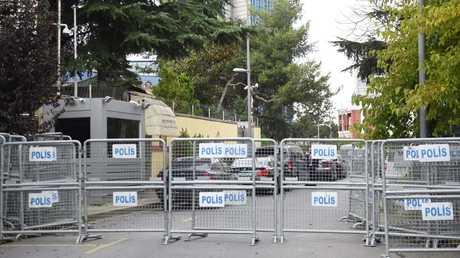 بالقرب من القنصلية السعودية في إسطنبول، تركيا