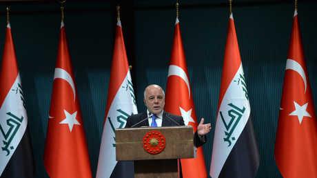 القائد العام للقوات المسلحة العراقية المنتهية ولايته، حيدر العبادي