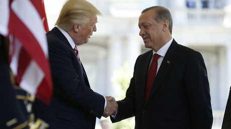 الرئيسان التركي رجب طيب أردوغان والأمريكي دونالد ترامب