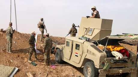 قوات عراقية عند الحدود مع سوريا في محافظة الأنبار - صورة أرشيفية