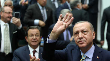 رجب طيب أردوغان يلقي كلمة أمام البرلمان التركي
