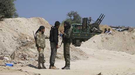 المسلحون في إدلب بسوريا
