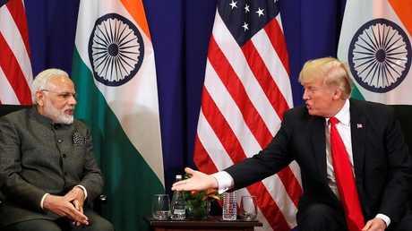 لرئيس الأمريكي دونالد ترامب ورئيس الوزراء الهندي ناريندرا مودي- أرشيف