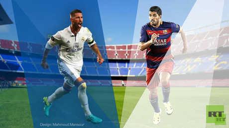 التشكيلة الأساسية لكلاسيكو الأرض بين برشلونة وريال مدريد