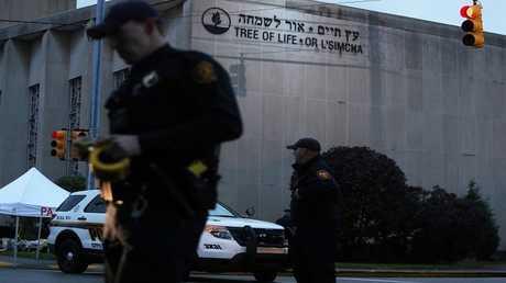 كنيس يهودي في مدينة بيتسبرغ بولاية بنسلفانيا الأمريكية