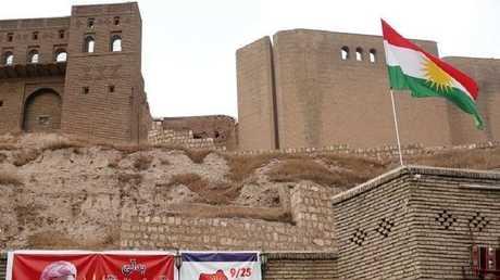 قلعة أربيل وسط المحافظة شمال العراق