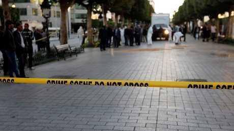 موقع حادث التفجير الانتحاري وسط تونس