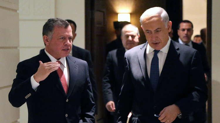 رئيس الوزراء الإسرائيلي بنيامين نتنياهو والعاهل الأردني عبد الله الثاني - صورة أرشيفية
