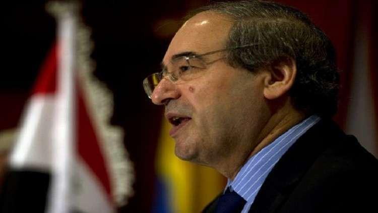 نائب وزير الخارجية السورية فيصل المقداد