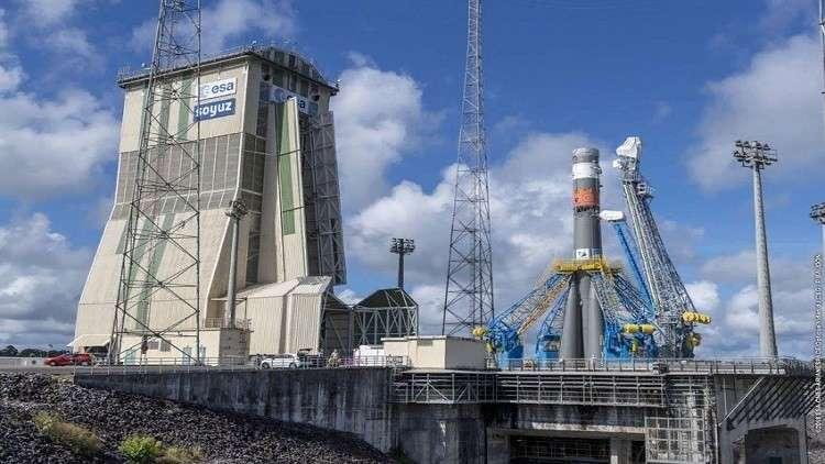 صاروخ روسي يحمل قمرا أوروبيا إلى الفضاء