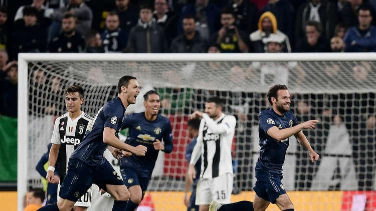 مانشستر يونايتد يقلب الطاولة على يوفنتوس في أبطال أوروبا