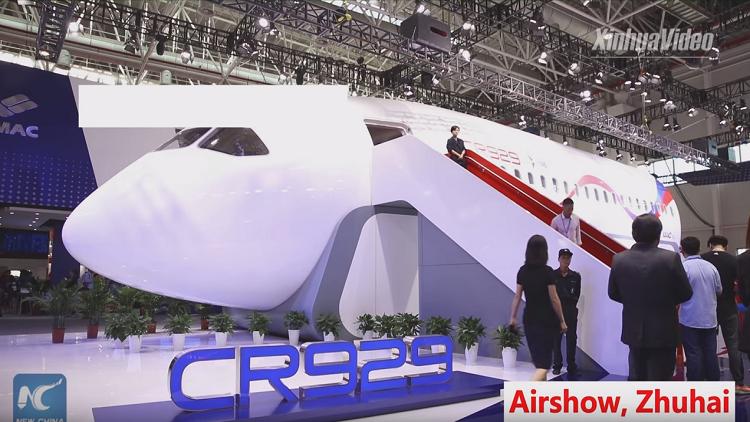 النموذج الأولي لطائرة الركاب الصينية الروسية المشتركة  CR929