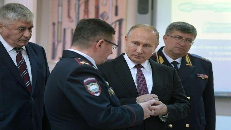 بوتين يهنئ الشرطة الروسية بعيدها المهني