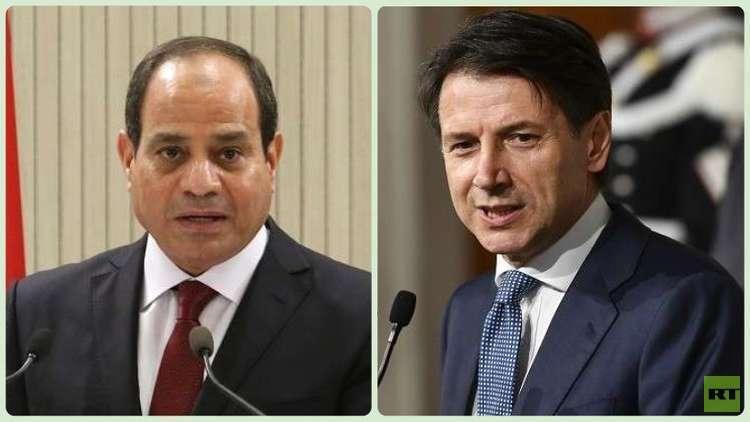 السيسي وكونتي يبحثان هاتفيا الأزمة في ليبيا