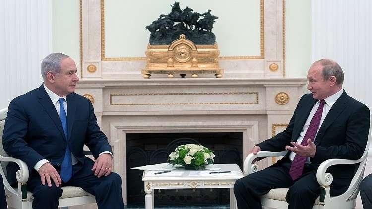 الرئيس الروسي فلاديمير بوتين يستقبل رئيس وزراء إسرائيل بنيامين نتنياهو في الكرملين، 11.07.2018