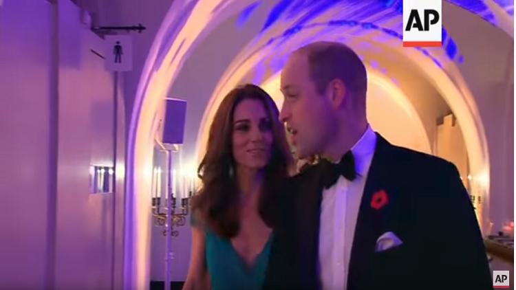الأمير وليم وعقيلته كيت دوقة كامبريدج في حفل توزيع جوائز Tusk