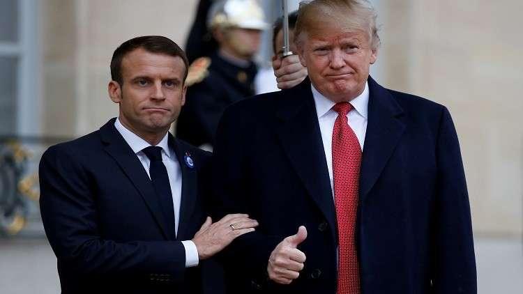 ترامب وماكرون في باريس