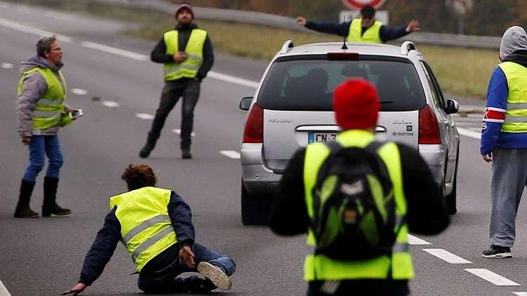 مقتل متظاهرة في حادث خلال احتجاجات بفرنسا