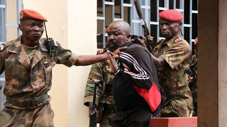 اعتقال ألفريد يكاتوم في إفريقيا الوسطى