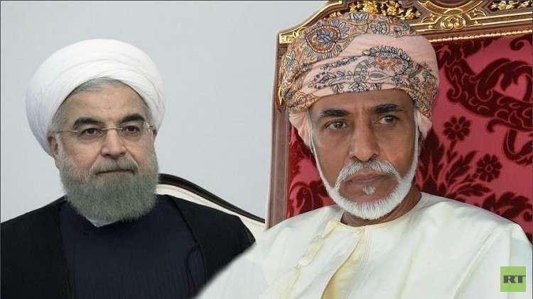 السلطان عمان قابوس بن سعيد والرئيس الإيراني حسن روحاني