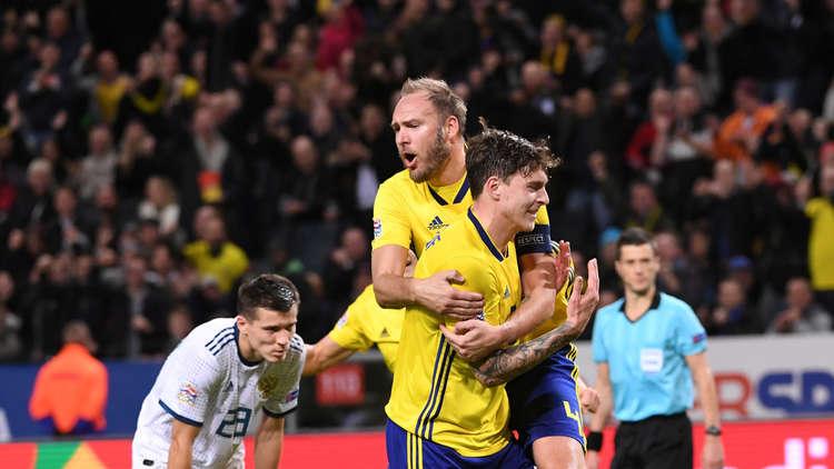 السويد تهزم روسيا وتلحق بركب المتأهلين لنصف نهائي دوري الأمم