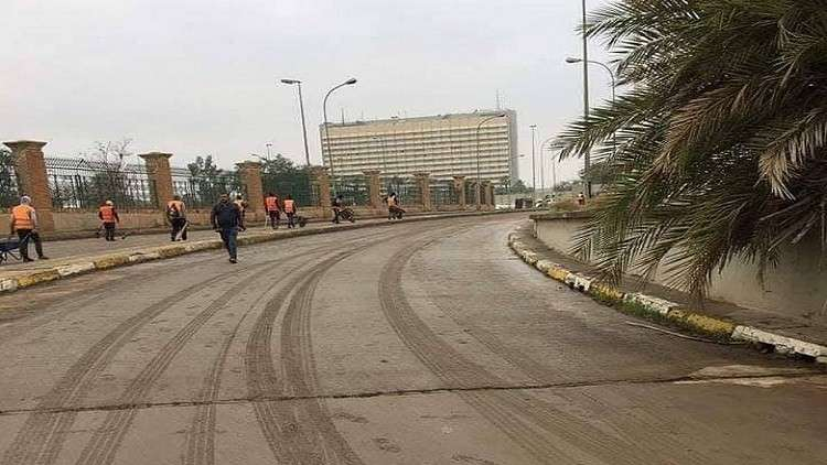 The opening of the first streets of the Green Zone near the Embassy of Riyadh in central Baghdad