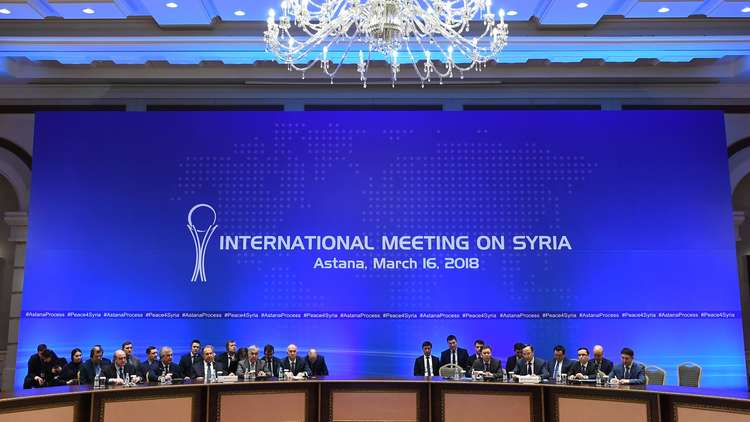 صورة من مؤتمر أستانا حول سورية في مارس 2018