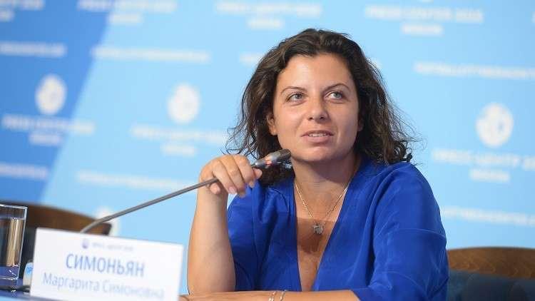 رئيسة تحرير قناة RT، مارغريتا سيمونيان