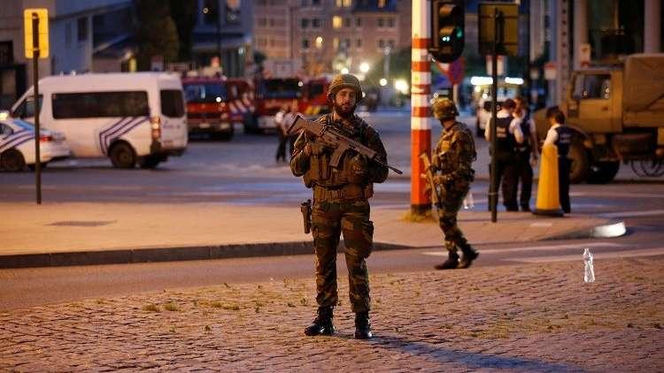 عنصر من القوات البلجيكية بالعاصمة بروكسل - أرشيف -