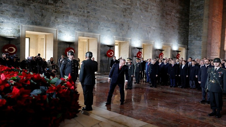 أردوغان يحيي الذكرى الـ80 لرحيل أتاتورك