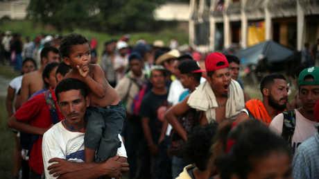 جزء من قوافل المهاجرين التي تتجه نحو الحدود الأمريكية، المكسيك