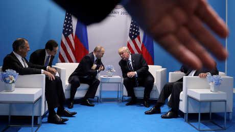 اجتماع بين فلاديمير بوتين ودونالد ترامب - صورة أرشيفية
