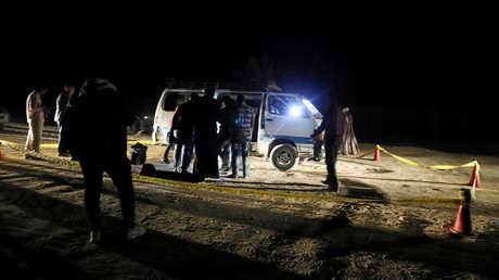 مكان الهجوم في محافظة المنيا المصرية